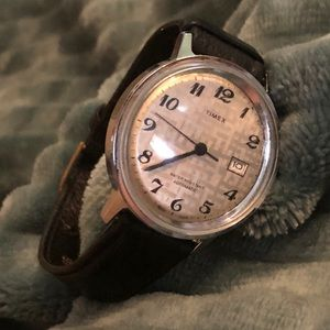 1975 Timex Automatic Mens Pattern Dial Wristwatch